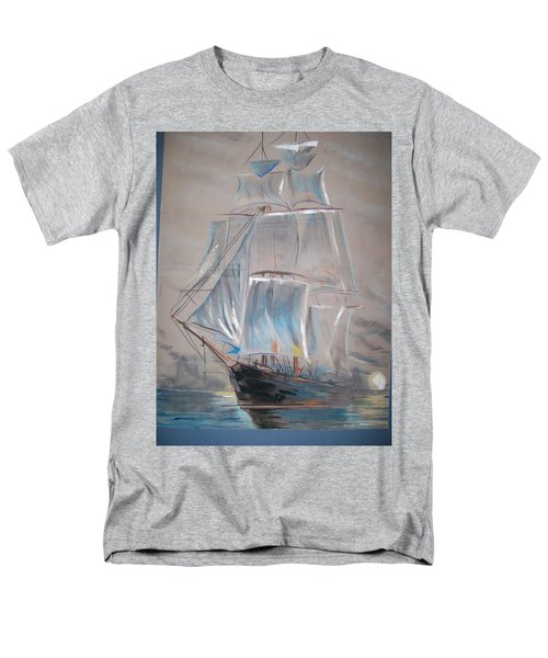 Men's T-Shirt  (Regular Fit) featuring the mixed media Clipper In Mist by Peter Suhocke