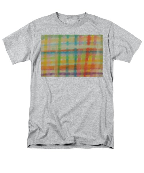 Colorful Plaid Men's T-Shirt  (Regular Fit) by Thomasina Durkay