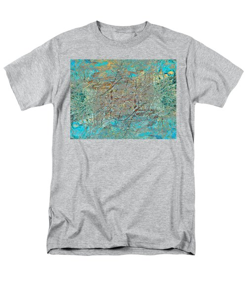 Men's T-Shirt  (Regular Fit) featuring the photograph Cool Blue Tangle by Stephanie Grant