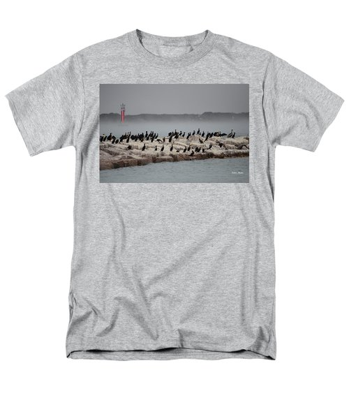 Men's T-Shirt  (Regular Fit) featuring the photograph Cormorant Island by Debra Martz