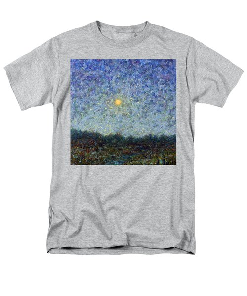 Men's T-Shirt  (Regular Fit) featuring the painting Cornbread Moon - Square by James W Johnson