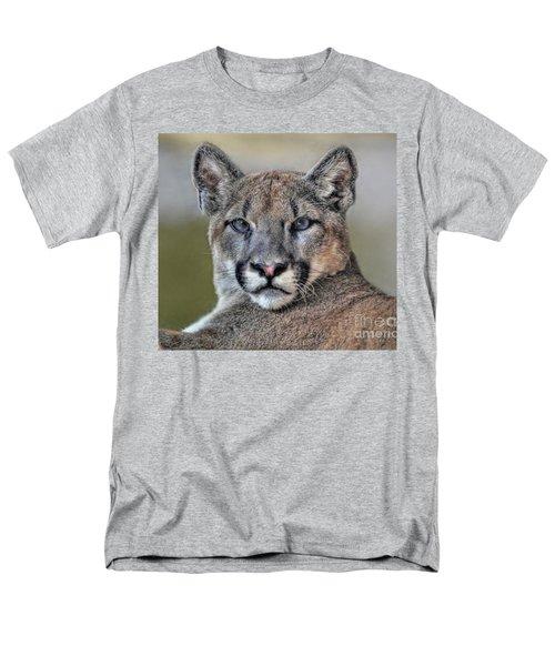 Men's T-Shirt  (Regular Fit) featuring the photograph Cougar  by Savannah Gibbs