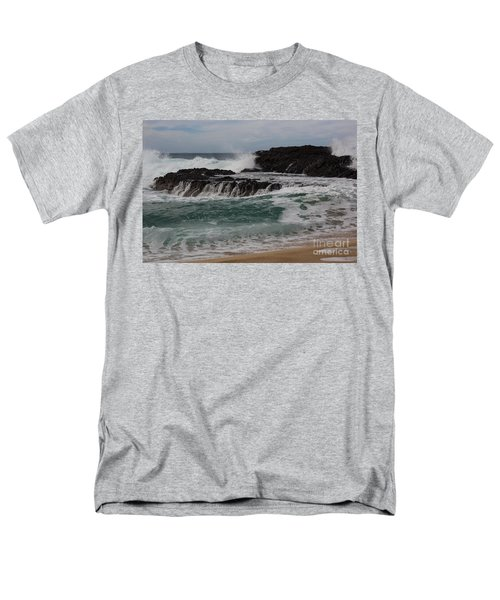 Men's T-Shirt  (Regular Fit) featuring the photograph Crashing Surf by Suzanne Luft