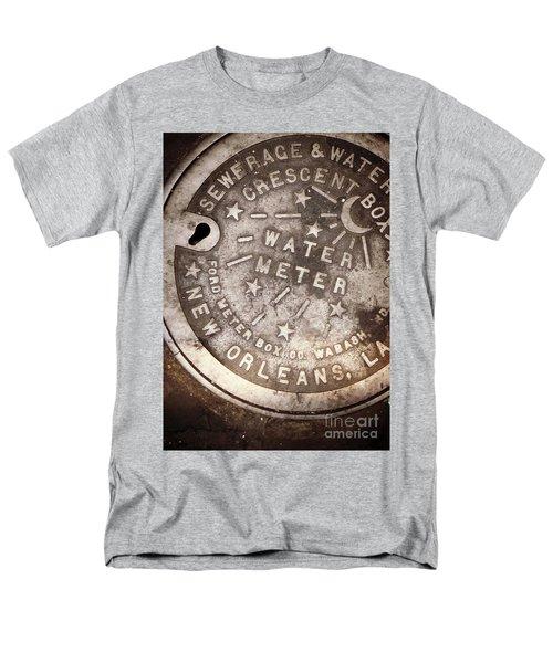 Crescent City Water Meter Men's T-Shirt  (Regular Fit) by Valerie Reeves
