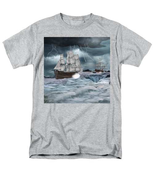 Danger Ahead Men's T-Shirt  (Regular Fit) by Davandra Cribbie