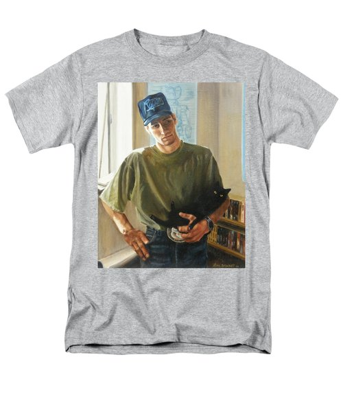Men's T-Shirt  (Regular Fit) featuring the painting David And Pulim by Lori Brackett