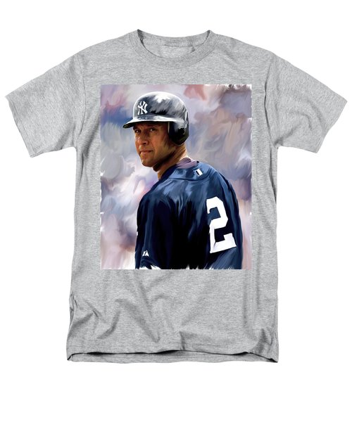 Derek Jeter  Men's T-Shirt  (Regular Fit) by Iconic Images Art Gallery David Pucciarelli