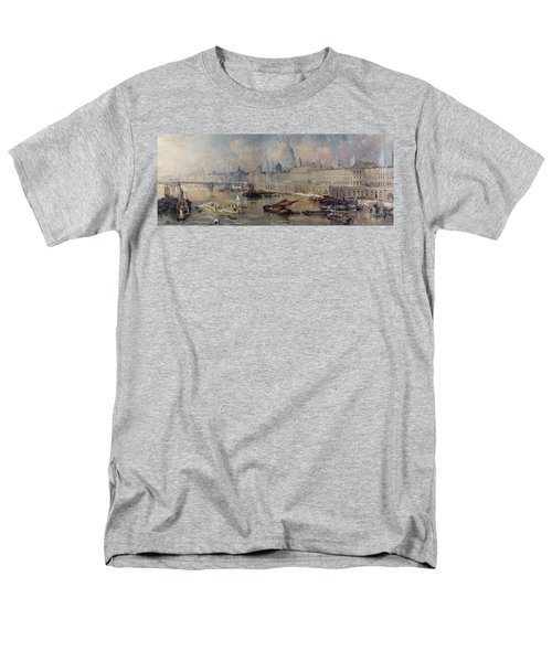 Design For The Thames Embankment Men's T-Shirt  (Regular Fit) by Thomas Allom