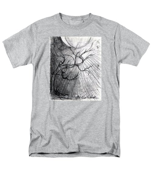 Men's T-Shirt  (Regular Fit) featuring the drawing Doom Moon  by Mikhail Savchenko