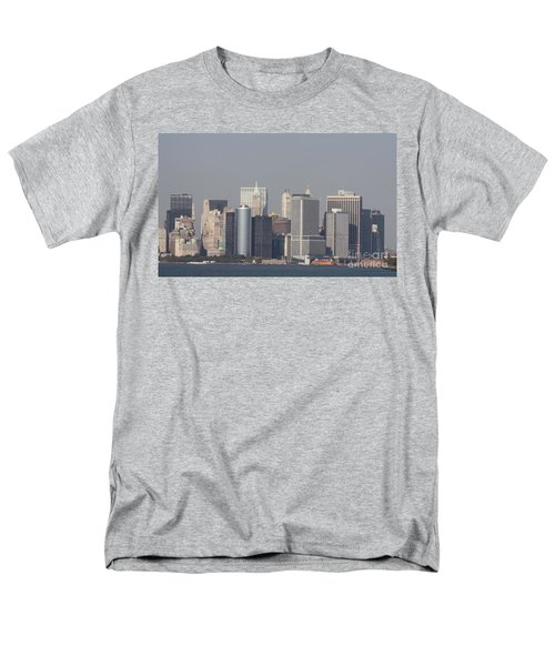 Downtown Manhattan Shot From The Staten Island Ferry Men's T-Shirt  (Regular Fit) by John Telfer
