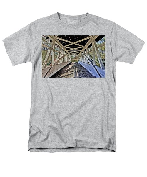 Men's T-Shirt  (Regular Fit) featuring the photograph Dr. Knisely Covered Bridge by Suzanne Stout