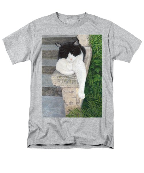 Men's T-Shirt  (Regular Fit) featuring the painting Dreaming Of Stone Lions by Pat Erickson