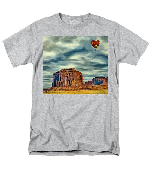 Men's T-Shirt  (Regular Fit) featuring the painting Drifting Over Monument Valley by Jeff Kolker