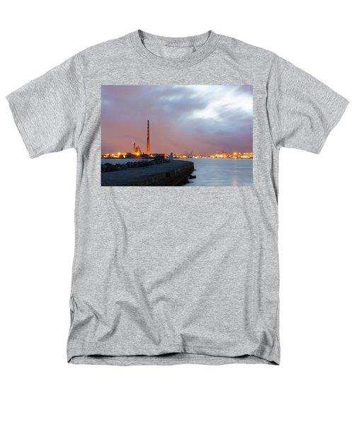 Dublin Port At Night Men's T-Shirt  (Regular Fit) by Semmick Photo