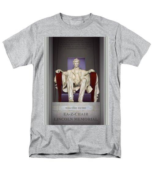 Ea-z-chair Lincoln Memorial 2 Men's T-Shirt  (Regular Fit) by Mike McGlothlen