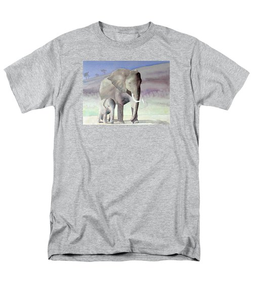 Elephant Family Men's T-Shirt  (Regular Fit) by Laurel Best