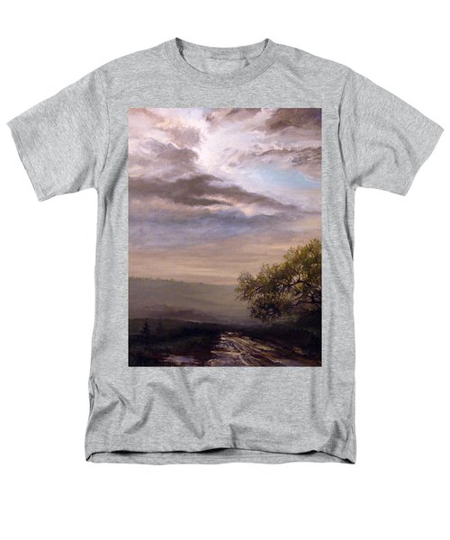 Men's T-Shirt  (Regular Fit) featuring the painting Endless Road Eternal Being by Mikhail Savchenko