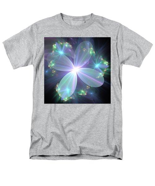 Men's T-Shirt  (Regular Fit) featuring the digital art Ethereal Flower In Blue by Svetlana Nikolova