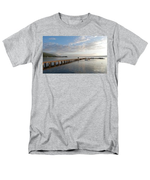 Men's T-Shirt  (Regular Fit) featuring the photograph Evening - Lake Ohrid - Macedonia by Phil Banks