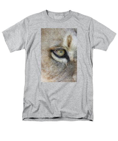 Men's T-Shirt  (Regular Fit) featuring the photograph Eye Of The Lion by Judy Whitton