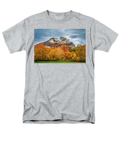 Fall Storm Seneca Rocks Men's T-Shirt  (Regular Fit) by Mary Almond