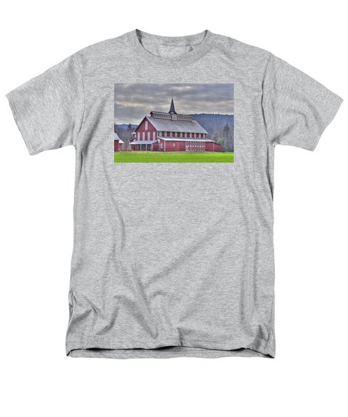 Fancy Red Barn Men's T-Shirt  (Regular Fit) by Shelly Gunderson