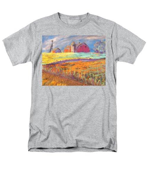 Farmland Sunset Men's T-Shirt  (Regular Fit) by Terri Einer
