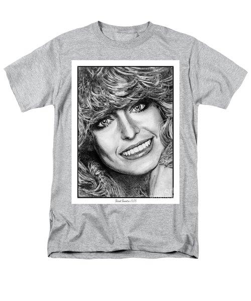 Men's T-Shirt  (Regular Fit) featuring the drawing Farrah Fawcett In 1976 by J McCombie