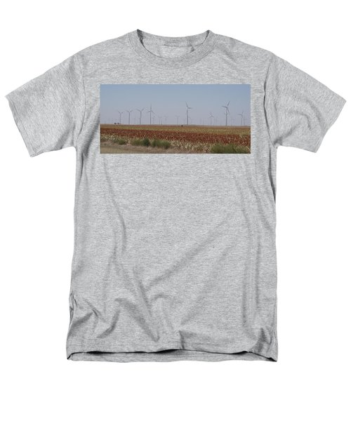 Men's T-Shirt  (Regular Fit) featuring the photograph Field Of Wind by Fortunate Findings Shirley Dickerson