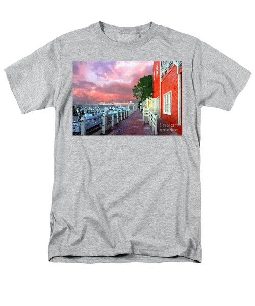 Men's T-Shirt  (Regular Fit) featuring the photograph Fisherman's Village Marina Del Mar Ca by David Zanzinger