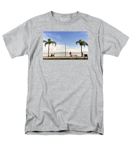 Men's T-Shirt  (Regular Fit) featuring the photograph Fishing On Lake Chapala by David Perry Lawrence