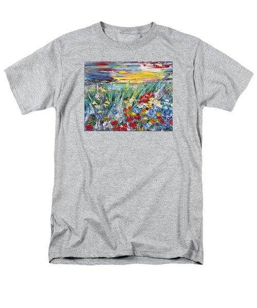 Flower Field Men's T-Shirt  (Regular Fit) by Teresa Wegrzyn