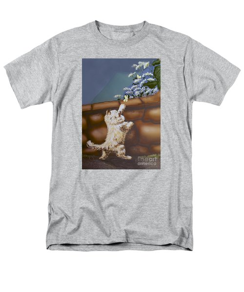 Fluff And Flutter Men's T-Shirt  (Regular Fit) by Linda Simon