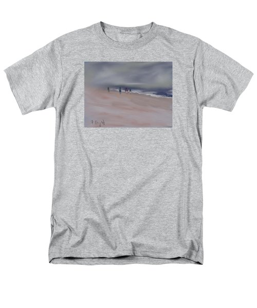 Fog On Folly Field Beach Men's T-Shirt  (Regular Fit) by Frank Bright