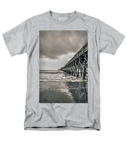 Men's T-Shirt  (Regular Fit) featuring the photograph Folly Beach Pier by Sennie Pierson