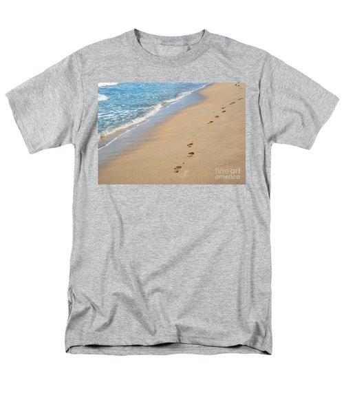 Footprints In The Sand Men's T-Shirt  (Regular Fit) by Juli Scalzi