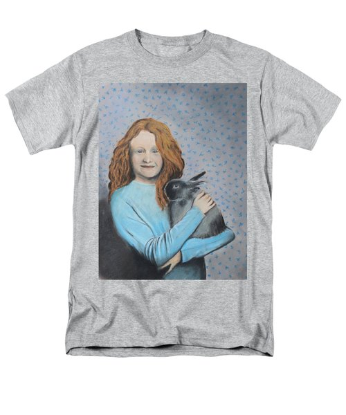 Men's T-Shirt  (Regular Fit) featuring the painting For The Love Of Bunny by Jeanne Fischer