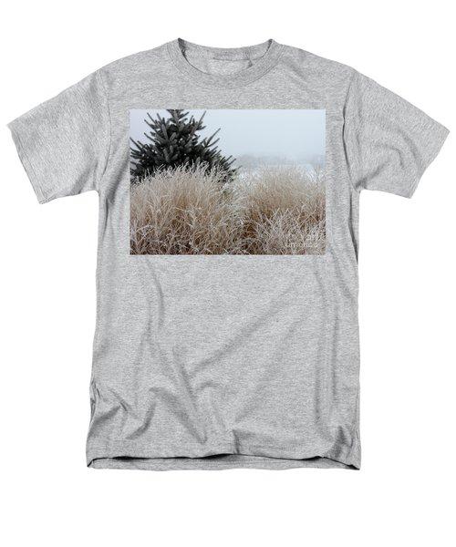 Frosted Grasses Men's T-Shirt  (Regular Fit) by Debbie Hart