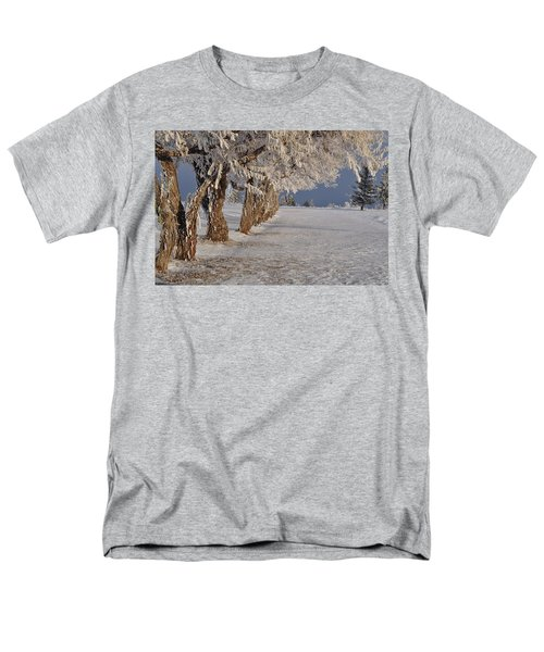 Men's T-Shirt  (Regular Fit) featuring the photograph Frosted Trees by Fran Riley