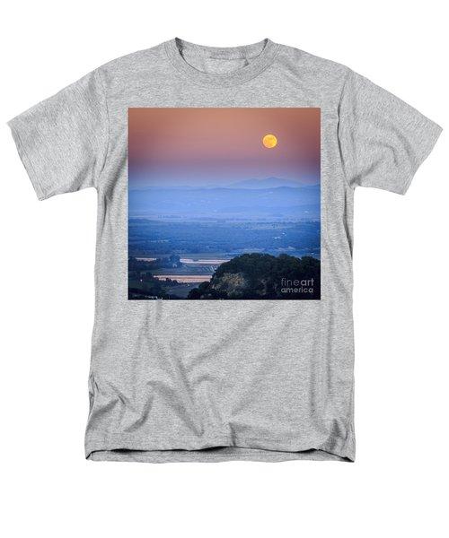 Full Moon Over Vejer Cadiz Spain Men's T-Shirt  (Regular Fit) by Pablo Avanzini