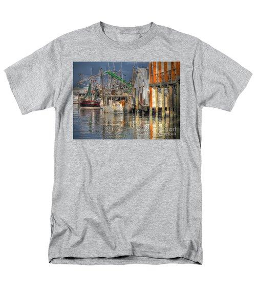 Men's T-Shirt  (Regular Fit) featuring the photograph Galveston Shrimp Boats by Savannah Gibbs