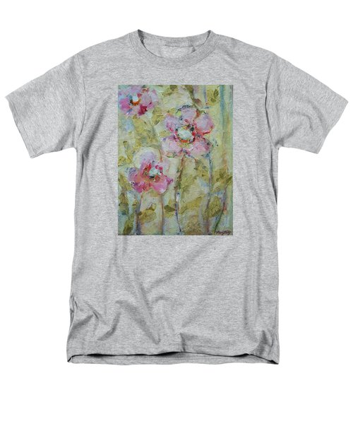Men's T-Shirt  (Regular Fit) featuring the painting Garden Bliss by Mary Wolf