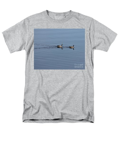 Geese Reflected Men's T-Shirt  (Regular Fit) by Leone Lund