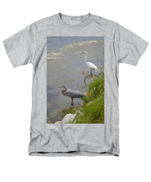 Great Blue And White Egrets Men's T-Shirt  (Regular Fit) by Judith Morris