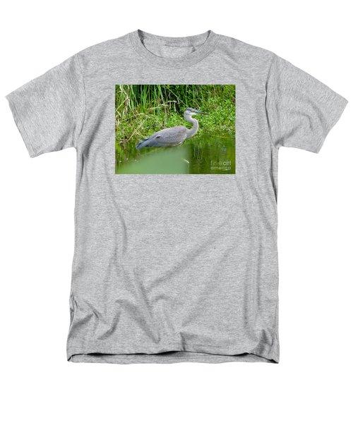 Men's T-Shirt  (Regular Fit) featuring the photograph Great Blue Heron  by Susan Garren