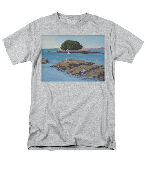 Gulls At Five Islands Men's T-Shirt  (Regular Fit)