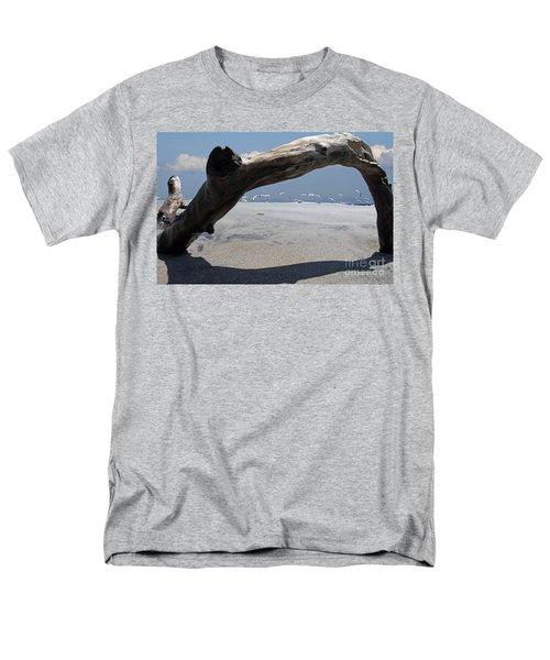 Gulls Away Men's T-Shirt  (Regular Fit) by Bob Hislop