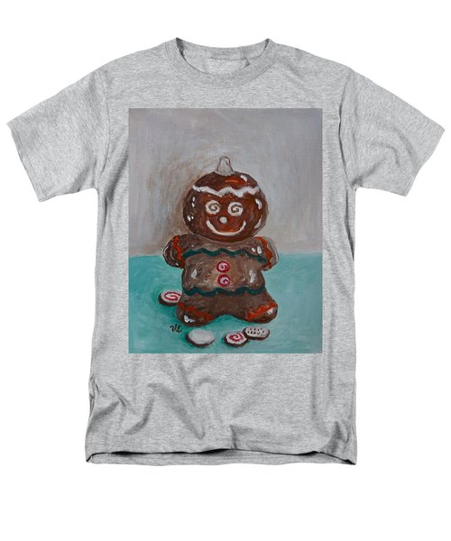 Happy Gingerbread Man Men's T-Shirt  (Regular Fit) by Victoria Lakes