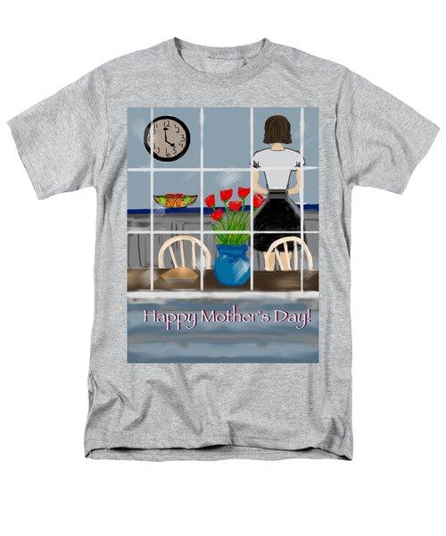 Men's T-Shirt  (Regular Fit) featuring the digital art Happy Homemaker by Christine Fournier