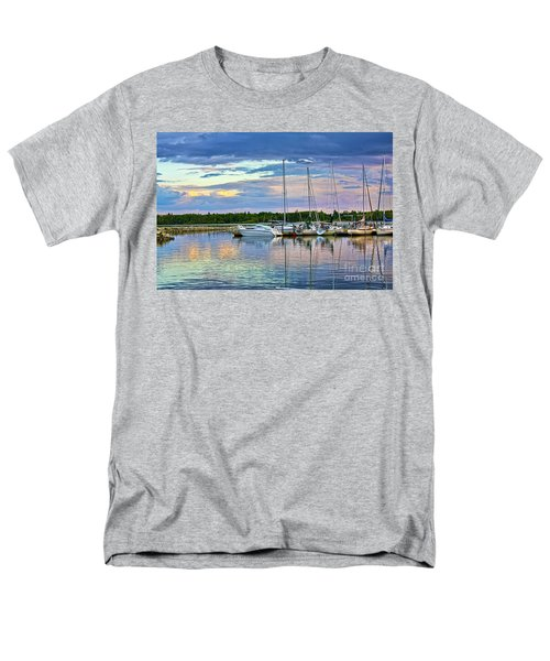 Hecla Island Boats II Men's T-Shirt  (Regular Fit) by Teresa Zieba